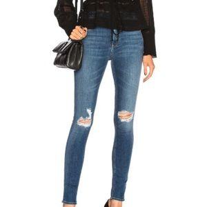 Rag & Bone Bonnie High Rise Skinny Raw Hem Jeans
